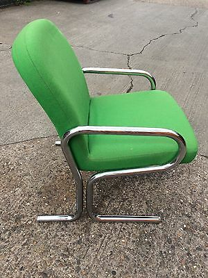 Green And Chrome Retro Vintage Armchair 1960'/70's Funky