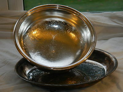 Silver plated food dish with cover