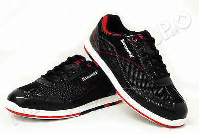 Bowling Shoes Men's Brunswick ick Titan black/red for Right and Left-handed