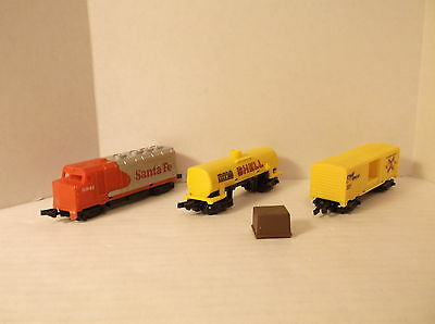 1983 Hot Wheels Railroad Freight Master Train 3 Vehicle Set Complete