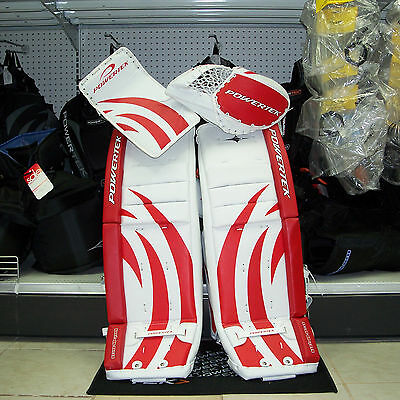"DISCOUNT - v5.0 Barikad Goalie pads/blocker/glove Jr 30"" Set Red Wings Colors"