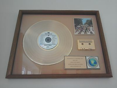 The Beatles Gold Disc Record Cassette Abbey Road Limited Edition