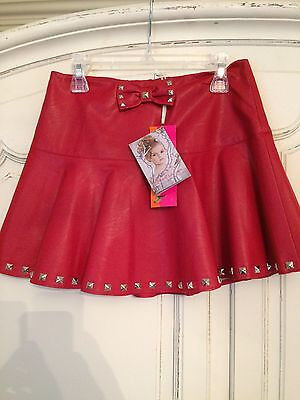 Kate mack NWT red faux leather skirt age 10