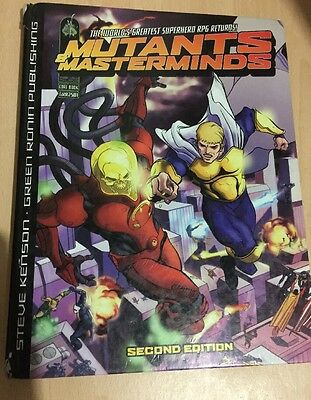 Mutants And Masterminds Hard Back Role Play Game Rule Book