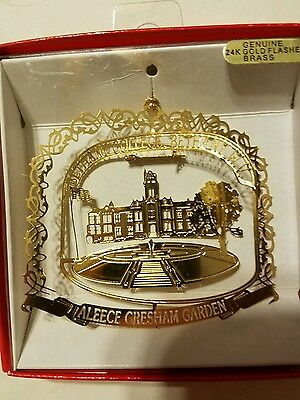 Bethany College West Virginia Brass Christmas Ornament
