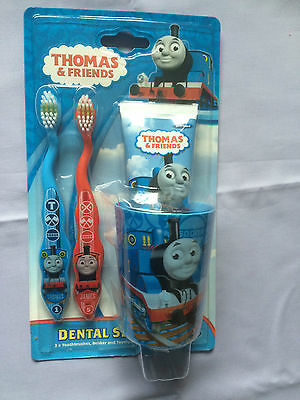 Thomas and Friends Kids Dental Set Toothbrush with Toothpaste Gift Set - BNIB