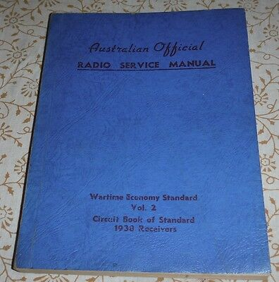 Australian Official Radio Service Manual Vo2 1938 Receivers ( AORSM )