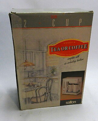 Salton 2 Cup Compact Teasmade Tea and Coffee maker in box
