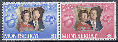 Monserrat 1972 25th Wedding Anniv of Queen Elizabeth II & Prince Philip. MNH VF