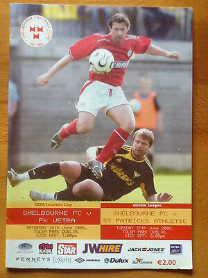 Shelbourne FC v FK Vetra Intertoto Cup 24/06/2006