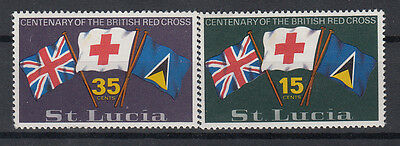 St Lucia 1970 Cent. Red Cross. 2 Val. MNH. VF.