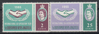 St. Lucia 1965 International Cooperation Year. Set. MNH. VF.