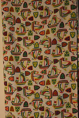 1950's Original Vintage Cotton Towelling Fabric. 2 Mtrs.