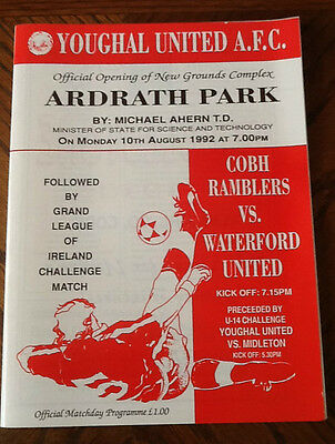 Cobh V Waterford 10/8/1992 Ground Opening @youghal F C