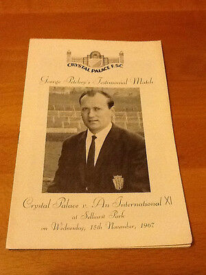 Crystal Palace V Int X1 15/11/1967 George Petchey Testimonial