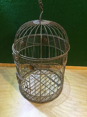 Large Vintage Antique Bird House Cage Old Nice Patina