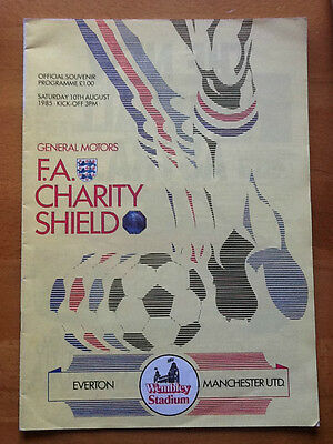 Everton v Manchester United Charity Shield 10/08/1985