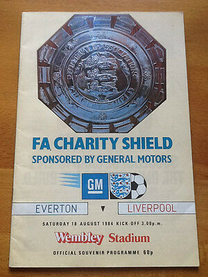 Everton v Liverpool Charity Shield 18/08/1984