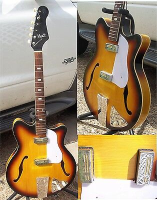 RARE early Vintage Kent Americana 551 electric guitar with gold-foil pickups