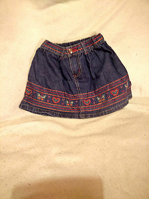 Pumpkin Patch Swiss Alps Denim Skirt Size 4 to fit height 106 cm / 42 inch