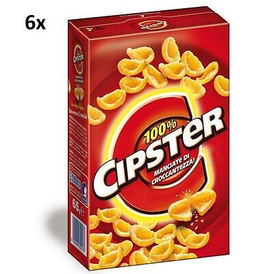 6x Saiwa Chips 'Cipster' party snack 85gr (510gr) Kesselchips Maissnack