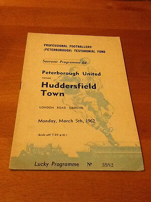 Peterborough United V Huddersfield Town Testimonial Fund 05/03/1962
