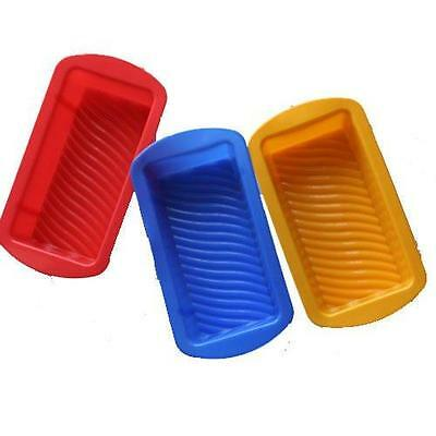 3 x Non-Stick Silicone Bread Loaf Mold Cake Baking Pan Oven Bake Mould Bakeware