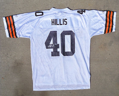 db02c2fe794 PEYTON HILLIS SIGNED Auto On-Field Reebok Cleveland Browns Jersey W ...