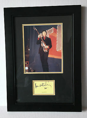 PSA/DNA The Beatles PAUL MCCARTNEY Signed Autographed FRAMED & MATTED Photo Cut