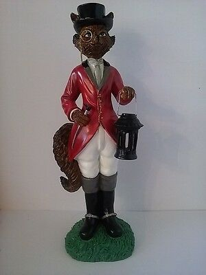*Foster Fox Equistrian Figurine holding a lantern. Collections Inc.