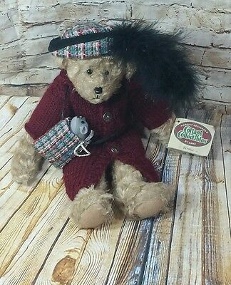 Ganz CC228 ~BERNICE~ Cottage Collectibles Plush Orig Tag - Jointed Teddy