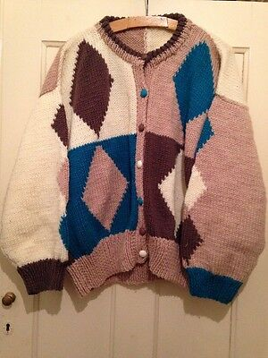 Urban Renewal Vintage Hand Knit Chunky Oversize Cardigan Size XL