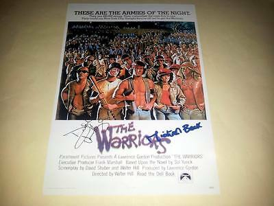"""The Warriors Cast X2 Pp Signed Poster 12""""x8"""" Michael Beck"""
