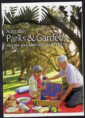 2009 AUSTRALIAN STAMP BOOKLET PARKS & GARDENS 10 x 55c STAMPS MUH