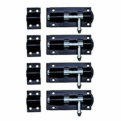 4 Slide Door Bolt Black Wrought Iron Tower 3 | Renovators Supply
