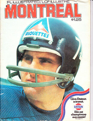 Oct. 1974 CFL Illustrated Montreal Alouettes Johnny Rodgers, Dan Yochum