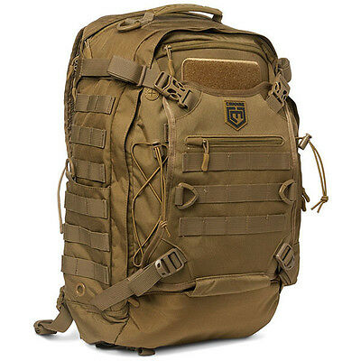 Cannae Phalanx Tactical Backpack Full Size Duty Pack w/Helmet Carry, Coyote
