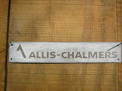 Vintage 10.5'' by 2''  1950s Allis-Chalmers Aluminum Sign Metal AC Tractor?