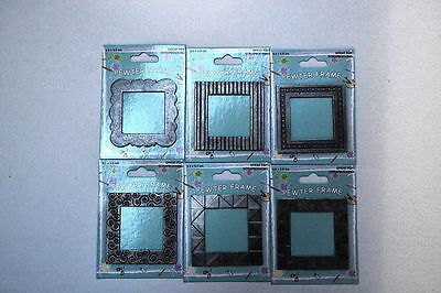6 x 3.5cm scrapbook pewter photo frames reduced to clear