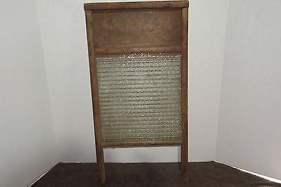Columbus Washboard Co. No. 2080 Standard Family Size Crystal Cascade Glass OLD