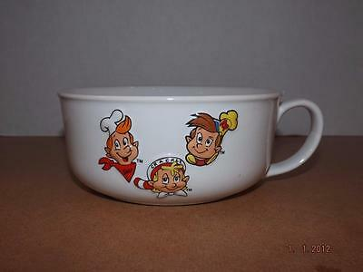 1999~Kellogg's~Snap! Crackle! Pop!~Oversized Cereal Bowl~Rice Krispies