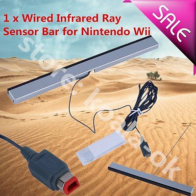 New Wired Infrared Ray Sensor Bar for Nintendo Wii Remote Controller HOTOY