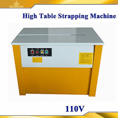 Semi-Automatic High Table 110V Strapping Machine 110V  High Speed  Banding NEW