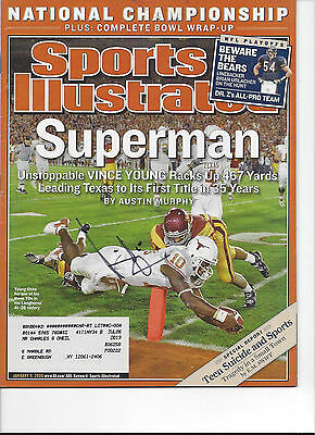 Vince Young Texas Longhorns #2 Signed Sports Illustrated COA