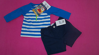 Target baby boys size 000 (0-3 months ) rash vest and cotton shorts New