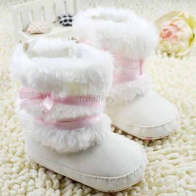 Newborn Baby Infant Toddler Boy Girl Snow Boots Crib Shoes Prewalker Booties
