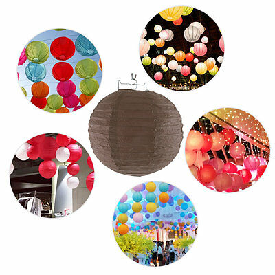 10pcs 8-10 Inch Colorful Chinese Paper Lanterns Ball For Wedding Festival EA