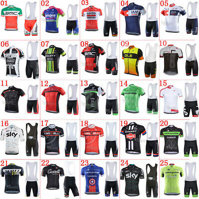 New Sport Team Cycling Jersey Sets Bike Bicycle Bib Top Short Sleeve Clothing