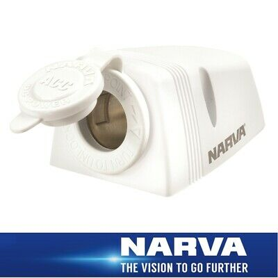 Narva HDRV Power Heavy-Duty 12/24V Accessory Socket White Surface Mount 81025WBL