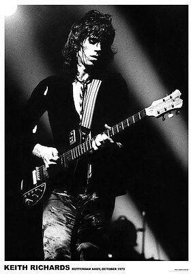 Keith Richards Rotterdam Live 1973 Poster  23.5 x 33 UK Import Rolling Stones